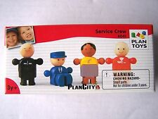 plan toys plan city service crew no.6041 3yrs+ wooden learning activity toy