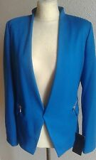 Zara Blue Blazer With Zips Sizes S Small Jacket Coat Bloggers