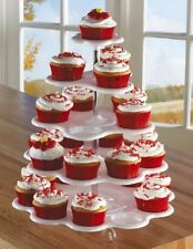 5 Tiered Tower White Cupcake Holder Stand, New, Free Shipping