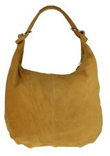 Italian Genuine Suede Real Leather Shoulder Bag Hobo Slouch Designer Handbag
