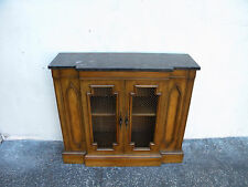 Mid Century Marble Top Console Table Cabinet 5823