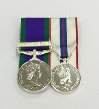 Court Mounted Full Size Medals, GSM Northern Ireland & Queens Silver Jubilee