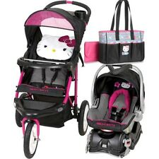 Hello Kitty Jogging Stroller Travel System, Car Seat, Diaper Bag Included