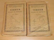 FONTENELLE Manuel RORET Verrier Glaces Cristaux Pierres Précieuses 2T CPLET 1900