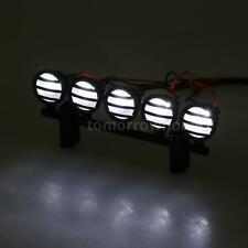 G.T.POWER LED Roof Light Bar Set 5 Spotlight for 1/10 RC Crawlers CAR US Y1A1