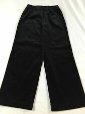Hanna Andersson Size 130 (7-10 Yrs) Black Crushed Velvet Holiday Dress Pants