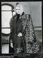Publicité advertising 1990 Haute Couture femme Jean Louis Scherrrer