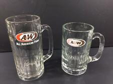 Lot of 2 A&W Root Beer Mugs / glasses (0368)