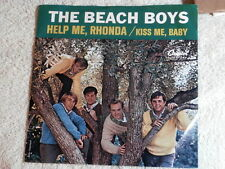 BEACH BOYS~HELP ME RHONDA~RECORD AND SLEEVE~CAPITOL~ KISS ME BABY~~ POP 45