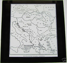 Glass Magic lantern slide SOUTHERN-EASTERN EUROPE POLITICAL MAP OCTOBER 1940 WW2