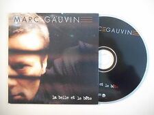 MARC GAUVIN : LA BELLE ET LE BETE [ CD SINGLE PORT GRATUIT ]