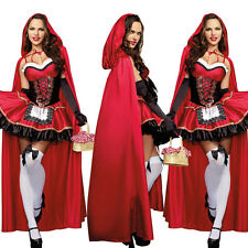 Halloween Sexy Little Red Riding Hood Women Cosplay Dress Carnival Party Costume