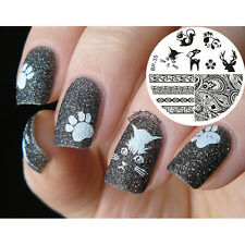 Ongle Nail Art Stamping pochoir Template Image Plate plaque Animal BORN PRETTY35