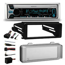 2016 Bluetooth Kenwood CD Radio, Cover, Harley 98-2013 FLHT FLHX Install Adapter