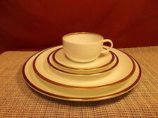 Wedgwood China Plato Gold Pattern 5 Piece Place Setting New
