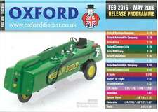 OXFORD DIECAST FEBRUARY 2016 - MAY 2016 RELEASE PROGRAMME CATALOGUE
