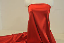 """STRETCH SATIN FABRIC RED SHINY SOFT 52""""  BY THE YARD"""