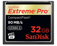 32GB Extreme Pro CompactFlash CF Card 90MB/S SanDisk SDCFXP-032G 600x GENUINE