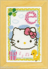 Vervaco  0149527  Alphabet © Hello Kitty - Lettre E  Kit  Point de Croix  Compté
