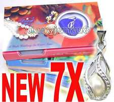 SALE 7X Box helix(drop) pendant Natural Pearl Necklace gift set Box -who120_7