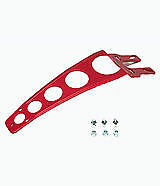 NEW RED MOTOCROSS ENDURO  ALLOY FRONT FENDER MUDGUARD STAY BRACE SUPPORT YZ CR
