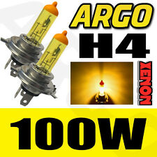 H4 100W SUPER YELLOW XENON (472) HEADLIGHT BULBS 12V ULTRA BRIGHT BULBS XENNON