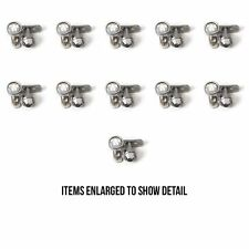 Wholesale Lot 44 Dermal anchors Clear Gems 22 Tops & 22 Bottoms