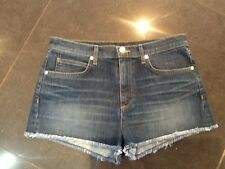 Juicy Couture New & Genuine Ladies Size Small UK 8/10 Blue Cotton Denim Shorts