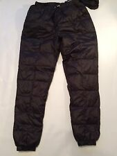 MENS sexy Padded Puffer  Down Pants Shiny Wet Look 32 To  34 W Nylon