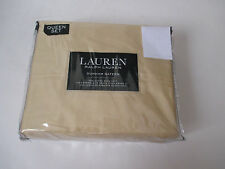 Ralph Lauren 4 Pc Queen Sheet Set Dunham Cotton Sateen 300 TC Italian Straw-NEW