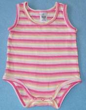 Target Cute Little Girls Candy Pink Striped Romper, Size 000- NEW!