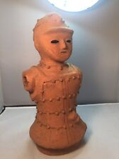"VINTAGE CHINESE EMPEROR SOLDIER TERA COTA CLAY BUST 13 "" TALL**FREE SHIPPING***"