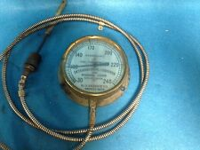 VINTAGE BRASS DIAL THERMOMETER GAUGE INTERNATIONAL CONVEYOR CORP. DETROIT MICH