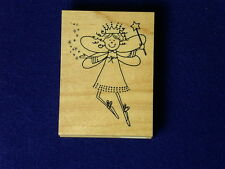 Birthday Angel Fairy Wings Crown G398 Great Impressions Ballet Wood Rubber Stamp