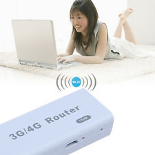 Portable 150Mbps 3G/4G WiFi Hotspot Router With RJ45 USB Slot Plug White