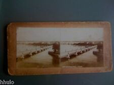STC059 Suisse Genève pont albumen stereoview photo STEREO