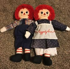 Raggedy Ann and Andy Dolls By Applause 16 Inch. Free Shipping!