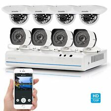 Zmodo® 8CH NVR 8 1280*720p IP Network PoE Home Security Camera System No HDD