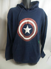 Marvel Men's Captain America Hoodie Navy US Size XL NWOT