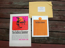 Vintage endless summer surf movie poster set surfboard 1965 surfing signed rare