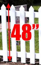 "Vinyl Fence Picket     48"" H X 3"" W X 7/8"" D     High Quality"