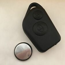 Citroen Saxo Xsara Picasso Berlingo 2 Button Remote Key Fob Case with Battery