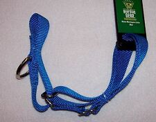 "New Blue Nylon Martingale Dog Collar Adjusts 14-20"" neck 5/8"" wide Guardian Gear"
