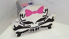 skull hitch cover ,skull bow black pink bow,tahoe,supercrew