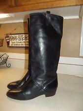 Vintage Etienne Aigner Black Leather Women's Boots Size 9 1/2