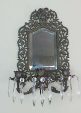 ANTIQUE MARKED B&H BRADLEY & HUBBARD BACCHUS MIRROR CANDELABRA