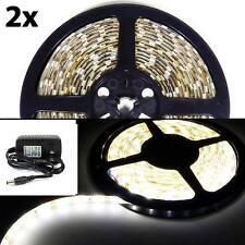 2x 16FT LED Kitchen Under Cabinet Light Strips Strip Bars Kit Warm White 110V
