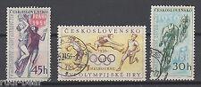 CSSR Tschechoslowakei Nr.  965-67  gest. Radfahren Baskettball Diskuswerfen   -3