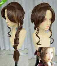 Final Fantasy / Alice /Dark brown thick Slightly curled ponytail cosplay wig