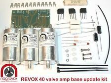 Revox model 40 valve amplifier capacitor & rectifier overhaul kit.